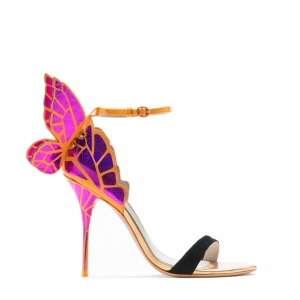 Sophia Webster Chiara Fuschia Butterfly Sandal